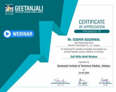 Certificate of Appreciation - Soft Skills - Wisdom