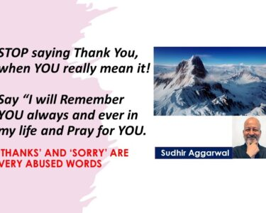 STOP saying Thank You, when YOU really-1
