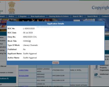 Screenshot WANG@ Registered